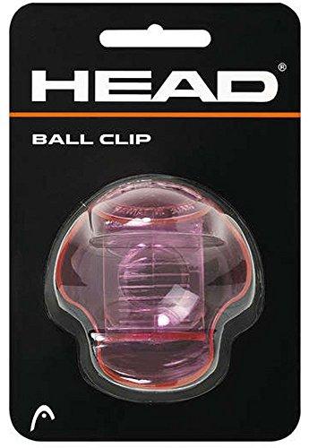 Head Tennisball Halter Clip transparent-pink