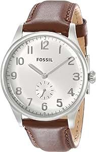 Fossil Herren-Armbanduhr XL The Agent Analog Quarz Leder FS4851