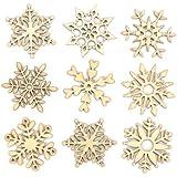 Baker Ross Mini-Schneeflocken aus Holz – Kreatives Bastelmaterial für Kinder für Weihnachtliche Bastelarbeiten und Dekorationen (45 Stück)
