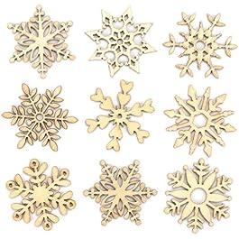 Baker Ross Mini Fiocchi di Neve Decorativi in Legno, Articoli Artistici Natalizi per Realizzare Deco
