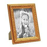 PHOTOLINI Bilderrahmen Antik Gold Nostalgie 13x18 cm Fotorahmen mit Glasscheibe/Kunststoff-Rahmen