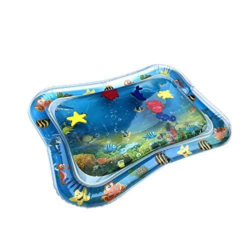 AmyGline Baby Aufblasbare Patted Pad - Baby Aufblasbare Wasserkissen Wassergefüllte Playmat für Kinder-2019 Aufblasbare Babywassermatte Fun Activity Play Center für Kinder und Kleinkinde