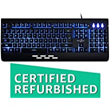 (CERTIFIED REFURBISHED) Redgear Blaze 3 colour backlit gaming keyboard with full aluminium body & windows key lock