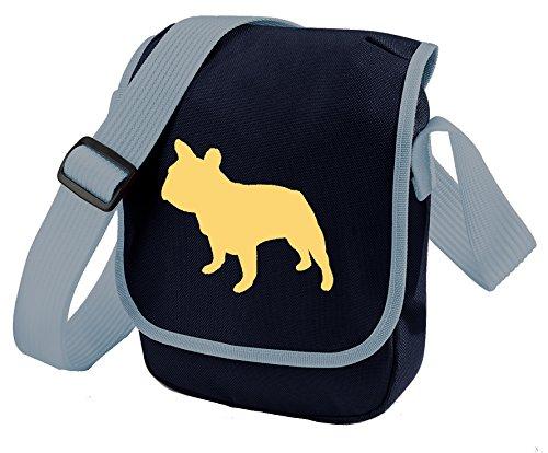 Bag Pixie - Borsa a tracolla unisex adulti Cream Dog Blue Bag
