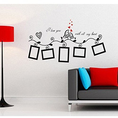 HuaYang Love Heart Bird Wall Art Stickers Vinyl Decals Family Photo Frame:  Amazon.co.uk: Kitchen U0026 Home