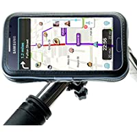 Rugged Secure Handlebar Mount Holder Compatible with Samsung Galaxy A3 - Stable and Weatherproof Design for Bicycles and Motorcycles