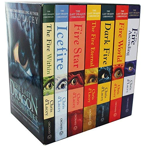 Chris D 'Lacey die Letzten Dragon Chronicles Collection 7Bücher Box Set by -