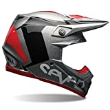 MOTO-9 FLEX SEVEN Motocross Helm silber schwarz Größe: XL (60-61 cm)