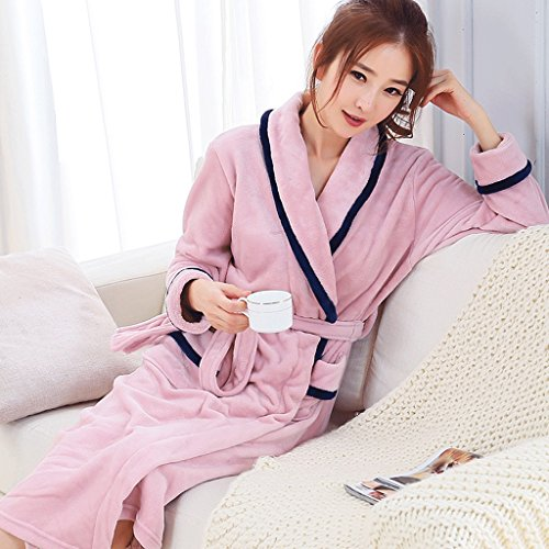 Bathrobes ZLR Autumn And Winter Plus Size Thickening Pajamas Plus Long Section Couple Sleep Robe Men And Women Home Clothes