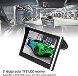 ePathChina Écran LCD TFT pour Voiture 12,7 cm 800 x 480 Écran 16:9 2 Voies Entrée vidéo pour caméra de recul DVD VCD