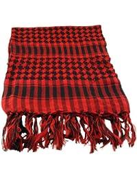 Arafat Palestinian Arab Keffiyeh Check Head Neck Scarf Unisex Mens Ladies in Red & Black