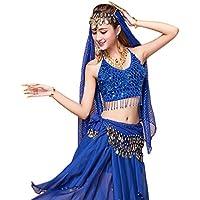 289c11a787b7 YiJee Danse du Ventre Costume pour Femme Belly Dance Tops avec Jupe