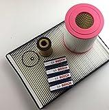 Ölfilter Pollenfilter Luftfilter + 4 x Zündkerze Bosch W168 A140 - A190 Benzin