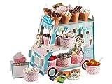 Ice Cream Süßigkeitenstand Candybar befüllt mit Schokolade und Marshmallow Fruchtgummi