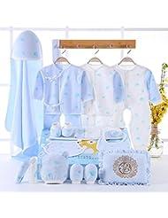 SHISHANG Caja de regalo del bebé Sistema 100% puro del bebé de la luna llena del algodón fijado sistema del regalo (sistema de 20 pedazos) Muchacha del muchacho cuatro estaciones para el bebé 0-1-Year-old , 59cm , A20