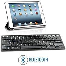Teclado con Bluetooth 3.0 Universal Compatible con Android iOS iPad Tablet Samung Huawei BQ Xiaomi LG Sony Smartphone iPhone Windows PC color Negro Negra Envío Urgente