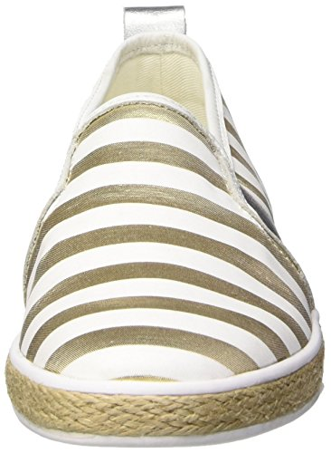 Guess Fabric Active Scarpe Low-Top, Donna Multicolore (oro/bianco)