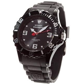 Detomaso DT2014-B – Reloj analógico de Cuarzo para Hombre con Correa de Silicona, Color Negro