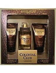 Jeanne Arthes Coffret Colonial Club Legend Eau de Toilette 100 ml + Gel Douche 75 ml + Apres Rasage 75 ml