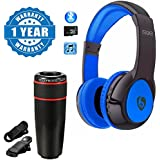 Captcha S99 Bluetooth Wireless Stereo Headphone Foldable Headset With Universal 12X Zoom Mobile Phone Telescope Lens Compatible With Xiaomi, Lenovo, Apple, Samsung, Sony, Oppo, Gionee, Vivo Smartphones (1 Year Warranty)