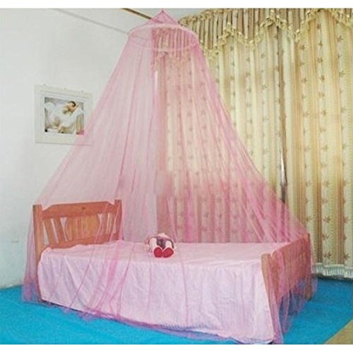 AOKDOOR Bett Moskitonetz Moskito Home Dekoration Weiß Insekt Bett Baldachin Netting Vorhang Dome Moskitonetz (Rosa)
