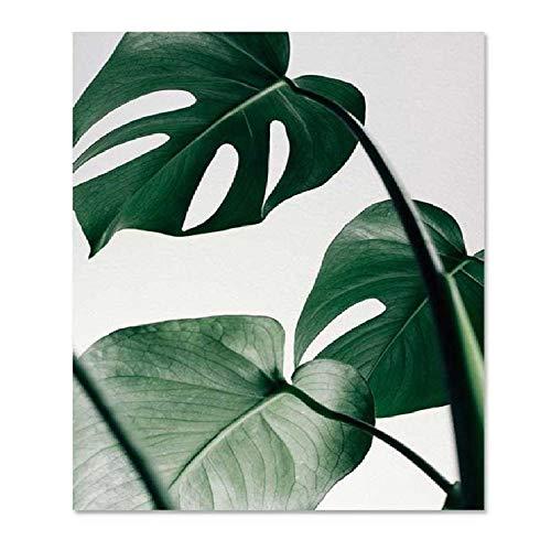 AALHJJ Sport Werbung Poster Leinwand Malerei Drucke Pflanze Blatt Kunst Poster Drucke Grüne Kunst Wandbilder Wohnzimmer Ungerahmt Poster -
