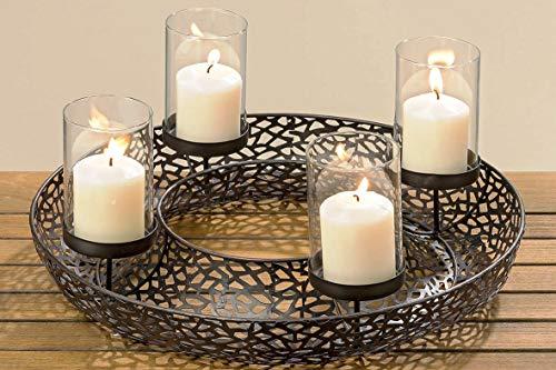 adventskranz metall f r ein stilvolles weihnachten. Black Bedroom Furniture Sets. Home Design Ideas
