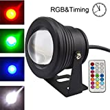 COOLWEST RGB LED Unterwasserscheinwerfer Dekorative...