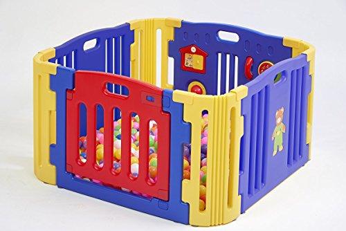 Parque de Bebes Star Ibaby Play Twin 4 Piezas.