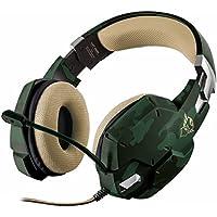 Trust GXT 322C Cuffie da Gioco, Stereo, Verde Camuffamento