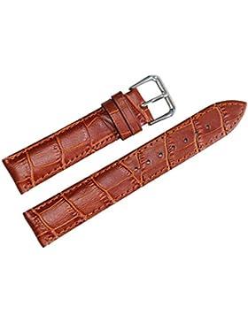 14mm hellbraun Leder Armband Riemen Ersatz für Frauen echte Kalbsleder Alligatorprägung