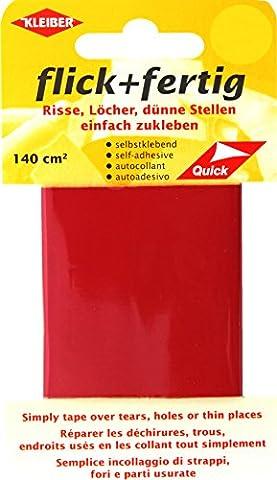 Kleiber 43077 Flick + fertig Selbstklebender Nylon Ausbesserungsflicken, 100% Polyamid, hellrot, 25 x 6 x 0,02 cm