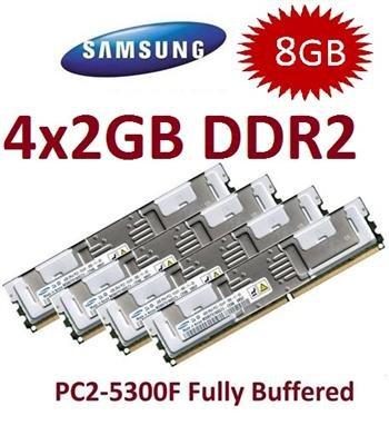 4x 2GB DDR2 667Mhz 240polig PC2-5300F -