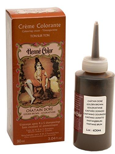 Henné Color Crème Colorante Châtain Doré 90 ml