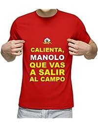 Camiseta Personalizada con Nombre y la Frase Calienta Que Vas a Entrar (Rojo