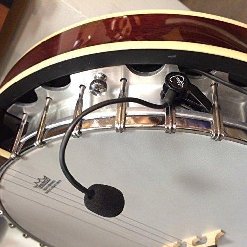 Myers Pickups, Banjo-Tonabnehmer, THE FEATHER, mit flexiblem Schwanenhalsmikrofon -