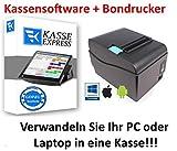 Kassen-Set: Bondrucker + Kassensoftware für Einzelhandel, Imbiss, Cafe ExpressKasse LITE …
