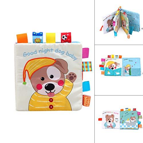 Mitlfuny Kawaii Langsam Dekompression Creme Duftenden Groß Squishy Spielzeug Squeeze Spielzeug,Baby schöne Hund Tuch Buch Baby Spielzeug Tuch Entwicklung BB Sound Books -