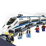 XDDQF NiñO Juguetes Educativos,Tren De Alta Velocidad VíA Electrificada Bloques Tren NiñOs Montar Rompecabezas Juguetes De Bloques De ConstruccióN