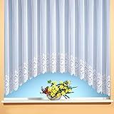 C-Bogen-Store Jacquard mit Kräuselband, halbtransparent, Farbe weiß Größe HxB 145x300 cm