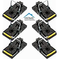 Home Solutions™ Mouse Trap 6 Pack Kill Mice Catcher, fácil de establecer Control reutilizable Snap Traps