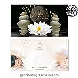 50 Stk. Geschenkgutscheine für Massage, Wellness, Spa, Yin Yang MA1229