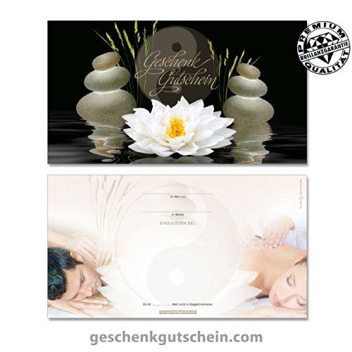 """50 Stk. Gutscheinkarten """"Standard"""" für Massage, Wellness, Spa, Yin Yang MA1229, LIEFERZEIT 2 bis 4 Werktage !"""