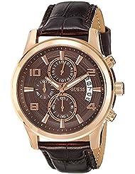 Guess Herren-Armbanduhr Analog Quarz Leder W0076G4