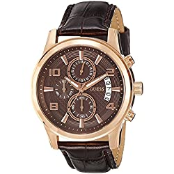 Guess Gents Watch Chronograph XL Leather W0076G4 Quartz