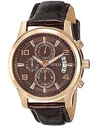 Guess Herren-Armbanduhr XL Chronograph Quarz Leder W0076G4