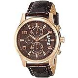 Guess  W0076G4 - Reloj de cuarzo para hombre, con correa de cuero, color marrón