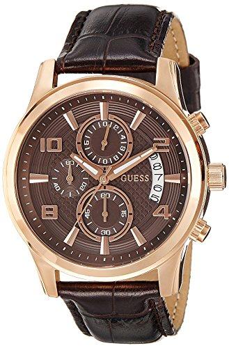 Guess Gents Watch Chronograph XL Leather W0076G4 Quartz