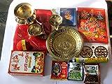 artcollectibles Indien Set von HAVAN Zubehör (Hindu Teller Rituale) für Hochzeiten Heiligen Festivals Puja