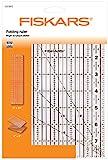 Fiskars 1023902 Règle Acrylique Pliable Plastique Transparent 23,8 x 16,8 x 1,3 cm
